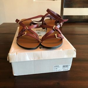 Topshop Shoes - NWT Topshop maroon buckle sandals